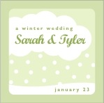 Snowswirls square labels