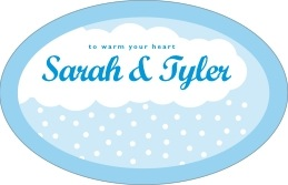 Snowswirls large oval labels