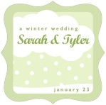 Snowswirls fancy square labels