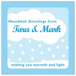 Snowswirls hanukkah labels