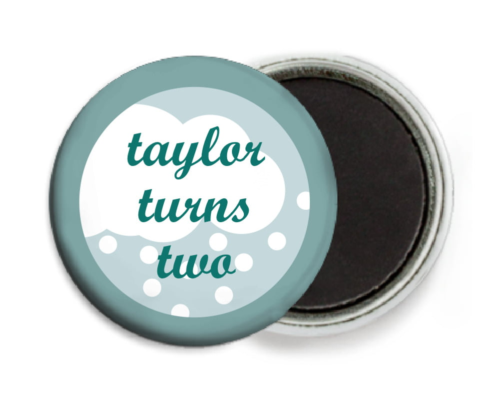 custom button magnets - sage - snowswirls (set of 6)