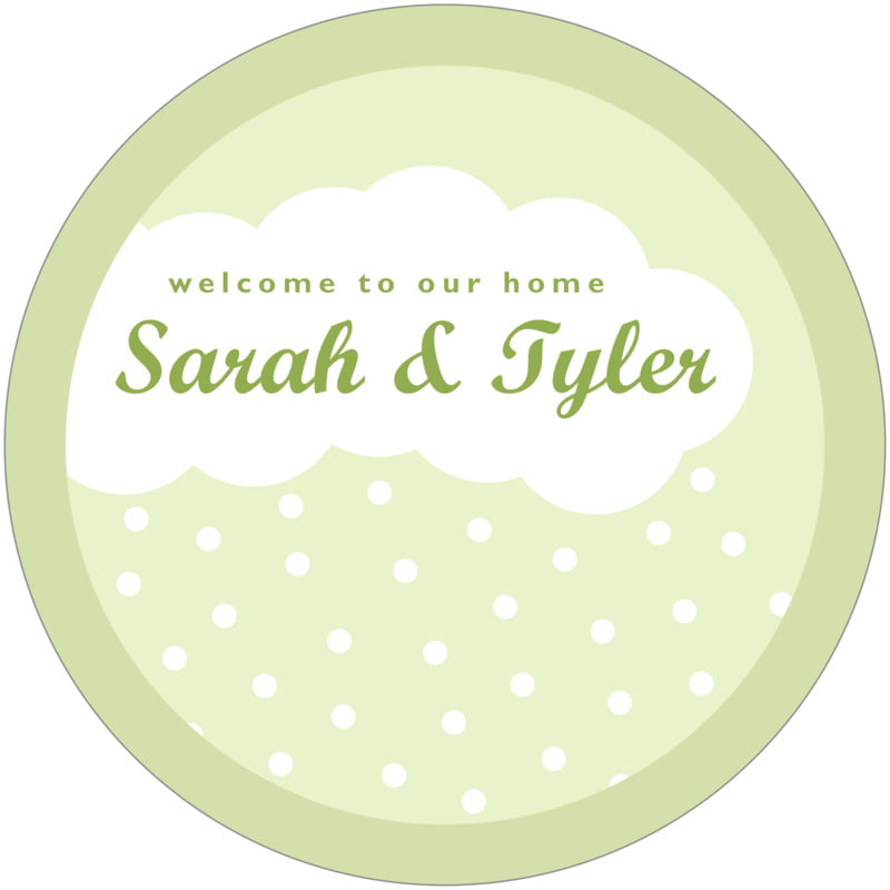 round wine coasters - green tea - snowswirls (set of 12)