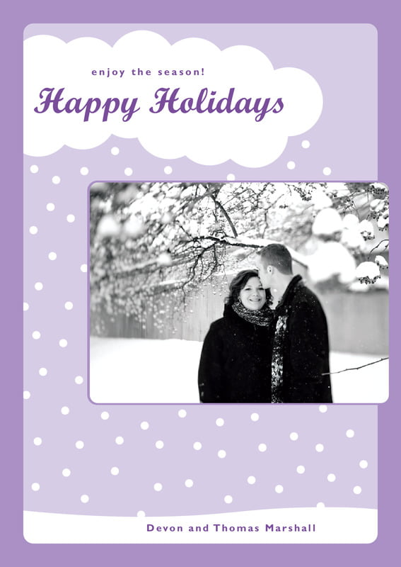 holiday cards - lilac - snowswirls (set of 10)