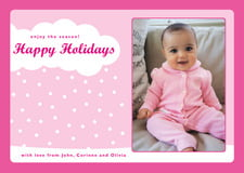 holiday cards - bright pink - snowswirls (set of 10)