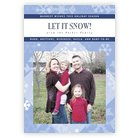 Snowflake photo cards - vertical