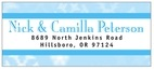 Snowflake designer address labels