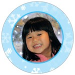 Snowflake circle photo labels