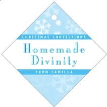 Snowflake diamond hang tags