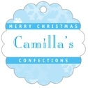 Snowflake scallop hang tags