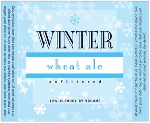 Snowflake large wide labels