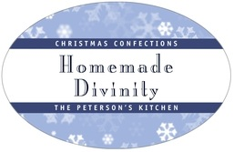 Snowflake large oval labels