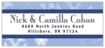 Snowflake hanukkah address labels