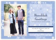 Snowflake Photo Cards - Horizontal In Powder Blue