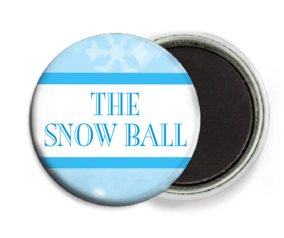 custom button magnets - ice blue - snowflake (set of 6)
