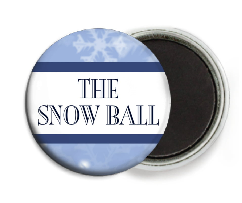 custom button magnets - powder blue - snowflake (set of 6)