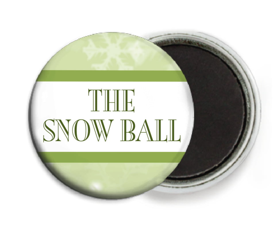 custom button magnets - green tea - snowflake (set of 6)