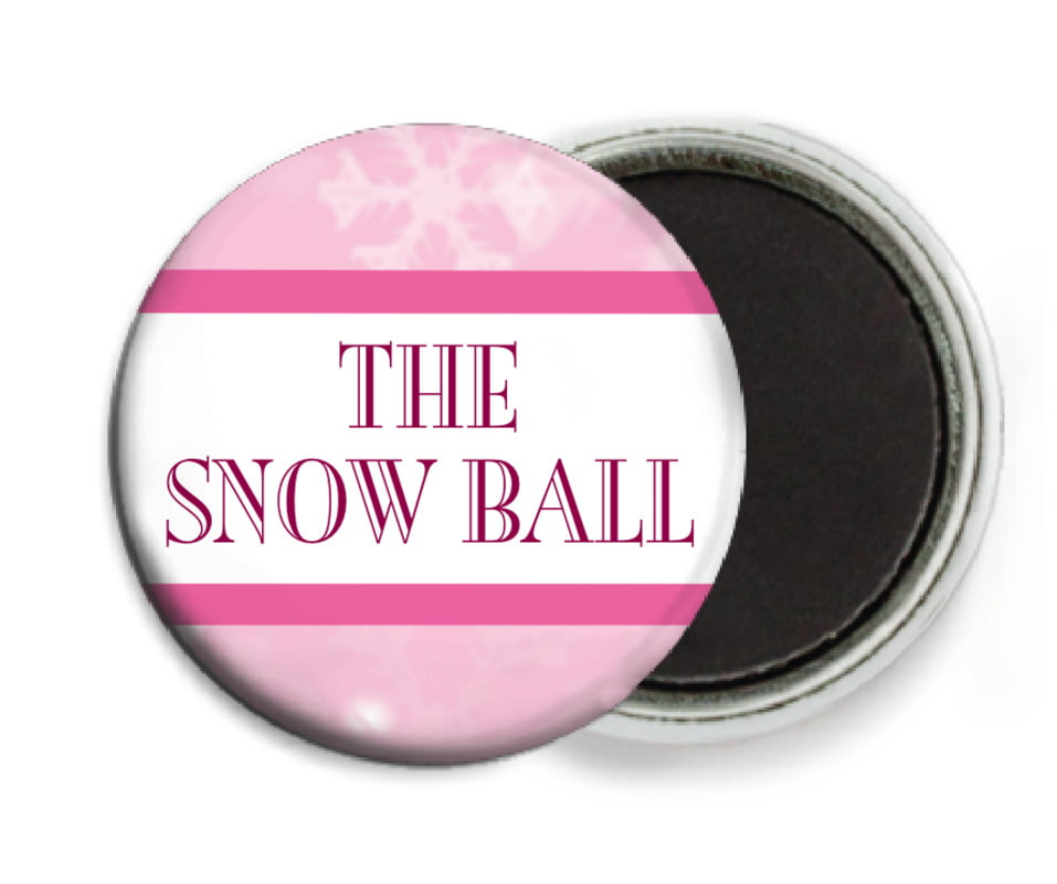 custom button magnets - pale pink - snowflake (set of 6)