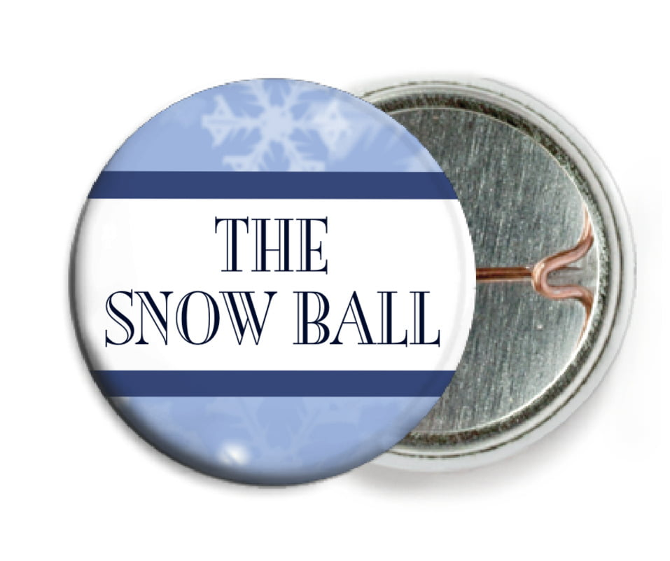 custom pin back buttons - powder blue - snowflake (set of 6)