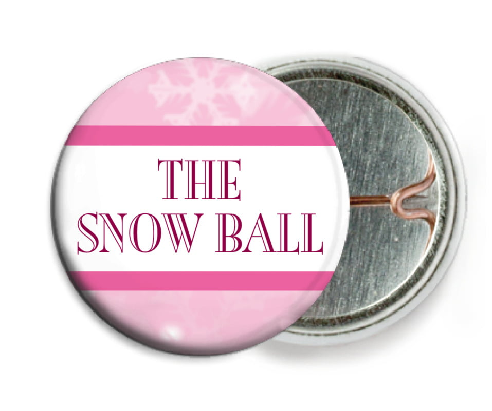 custom pin back buttons - pale pink - snowflake (set of 6)