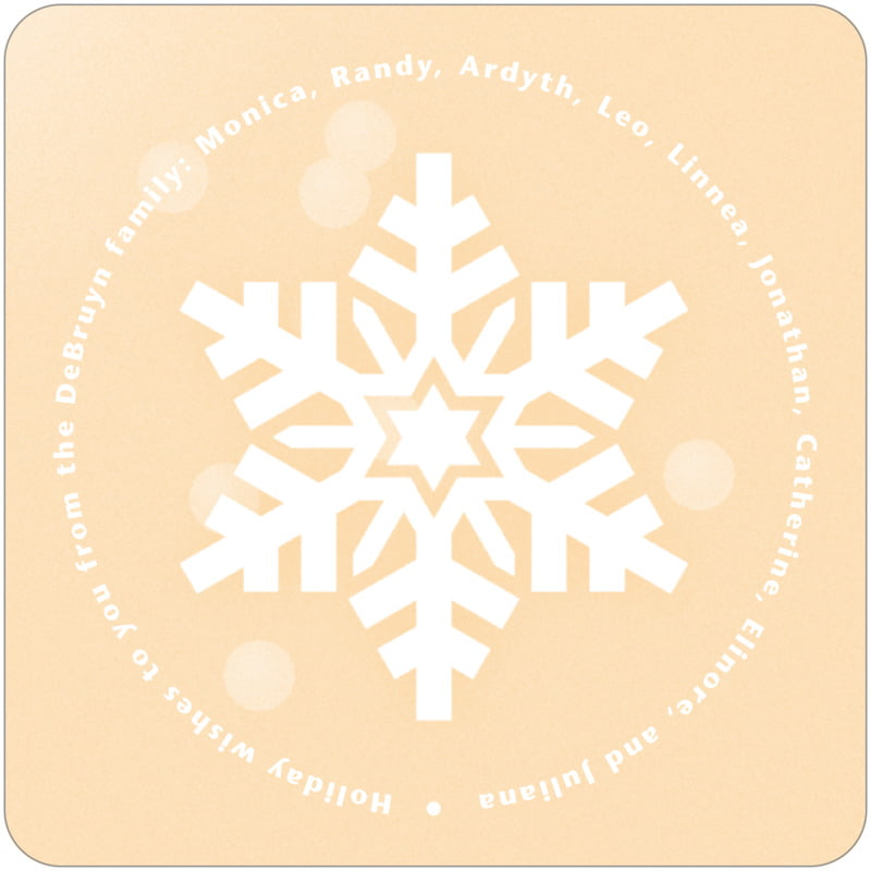 square holiday coasters - sunflower - snowflake (set of 12)