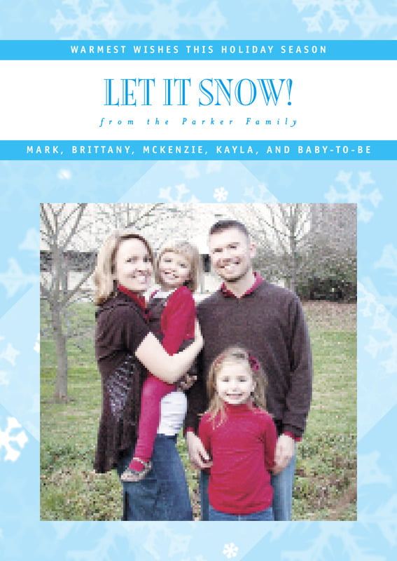 holiday cards - ice blue - snowflake (set of 10)
