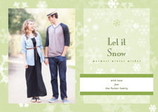 holiday cards - green tea - snowflake (set of 10)