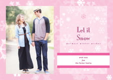 holiday cards - pale pink - snowflake (set of 10)