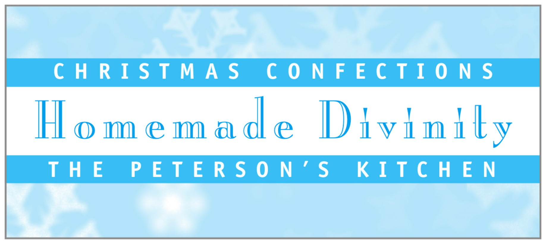 small rectangle food/craft labels - ice blue - snowflake (set of 24)