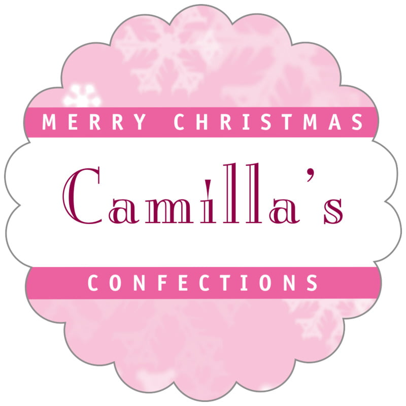 scallop food/craft labels - pale pink - snowflake (set of 20)