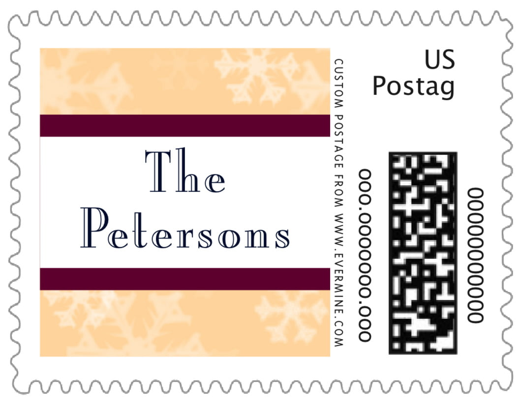 small custom postage stamps - sunflower - snowflake (set of 20)