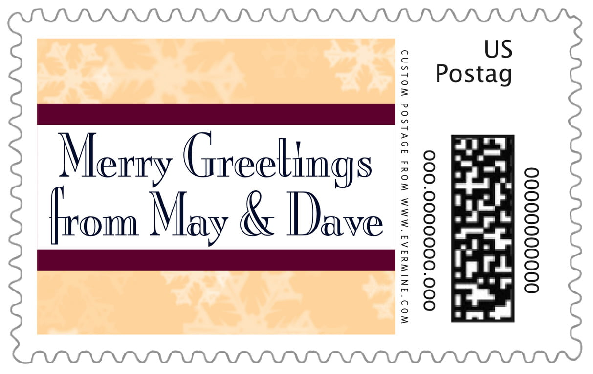 custom large postage stamps - sunflower - snowflake (set of 20)