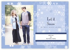 Snowflake photo cards - horizontal