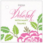 Spring Romance square hang tags