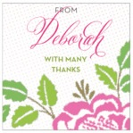 Spring Romance square labels