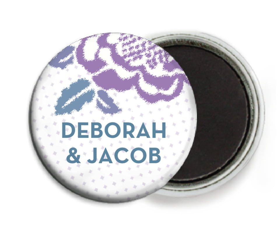 custom button magnets - lilac - spring romance (set of 6)