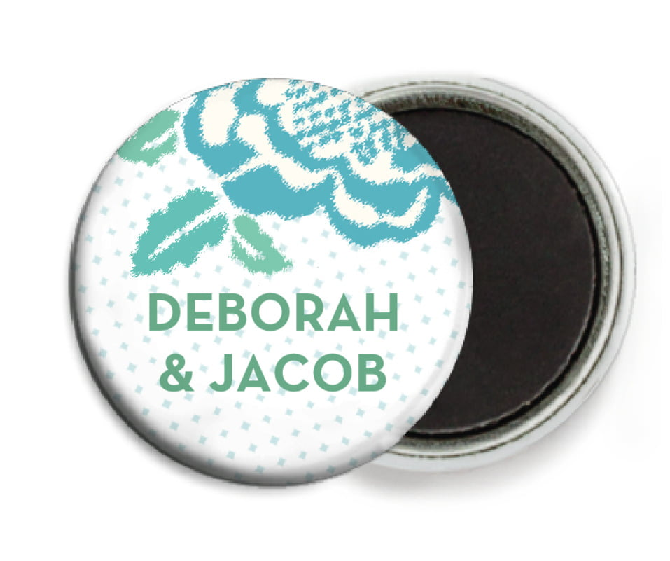 custom button magnets - aruba - spring romance (set of 6)