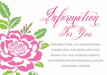 custom enclosure cards - pink - spring romance (set of 10)