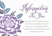 custom enclosure cards - lilac - spring romance (set of 10)