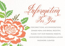 custom enclosure cards - peach - spring romance (set of 10)