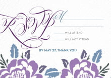 custom response cards - lilac - spring romance (set of 10)