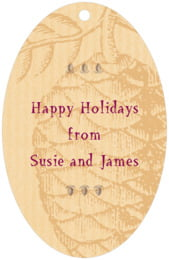 Sugar Pine large oval hang tags