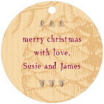 Sugar Pine circle hang tags