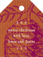 Sugar Pine small luggage tags