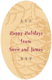 Sugar Pine tall oval labels