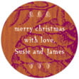 Sugar Pine small round labels
