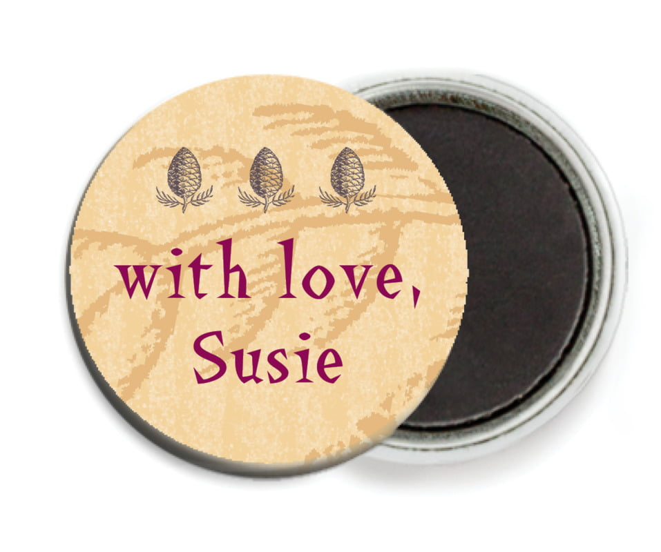 custom button magnets - honey - sugar pine (set of 6)