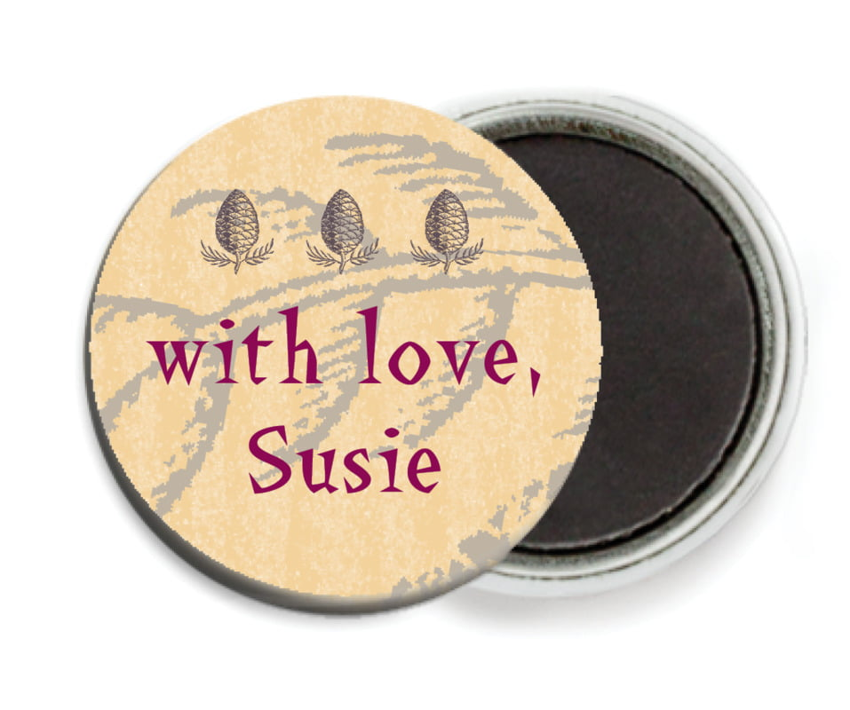 custom button magnets - smoke - sugar pine (set of 6)