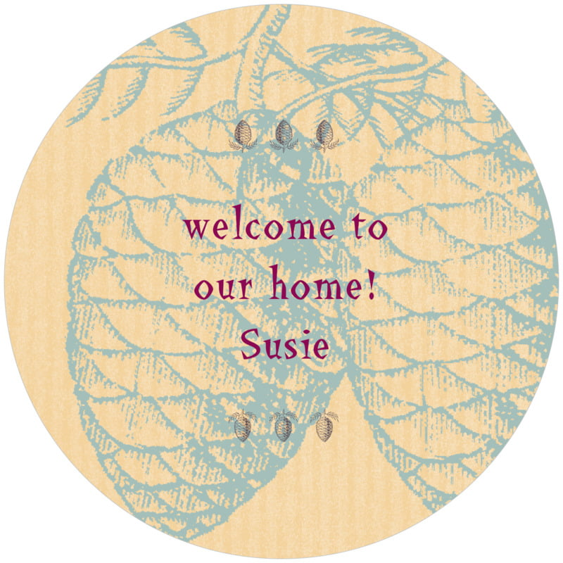 round holiday coasters - ice blue - sugar pine (set of 12)