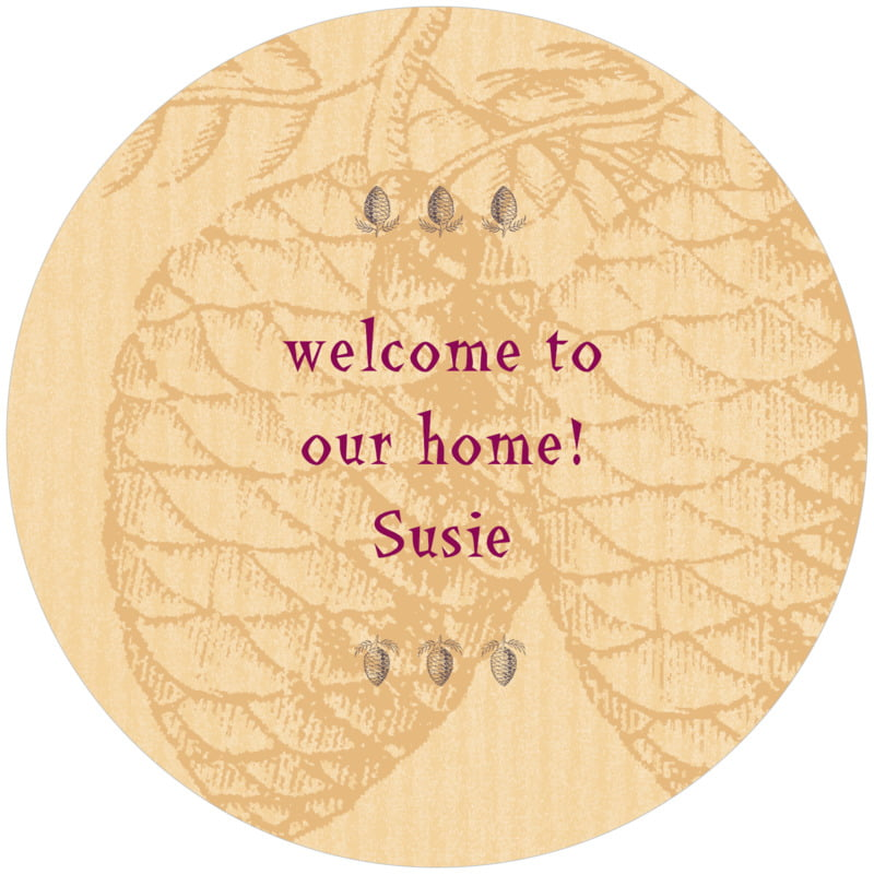 round holiday coasters - honey - sugar pine (set of 12)