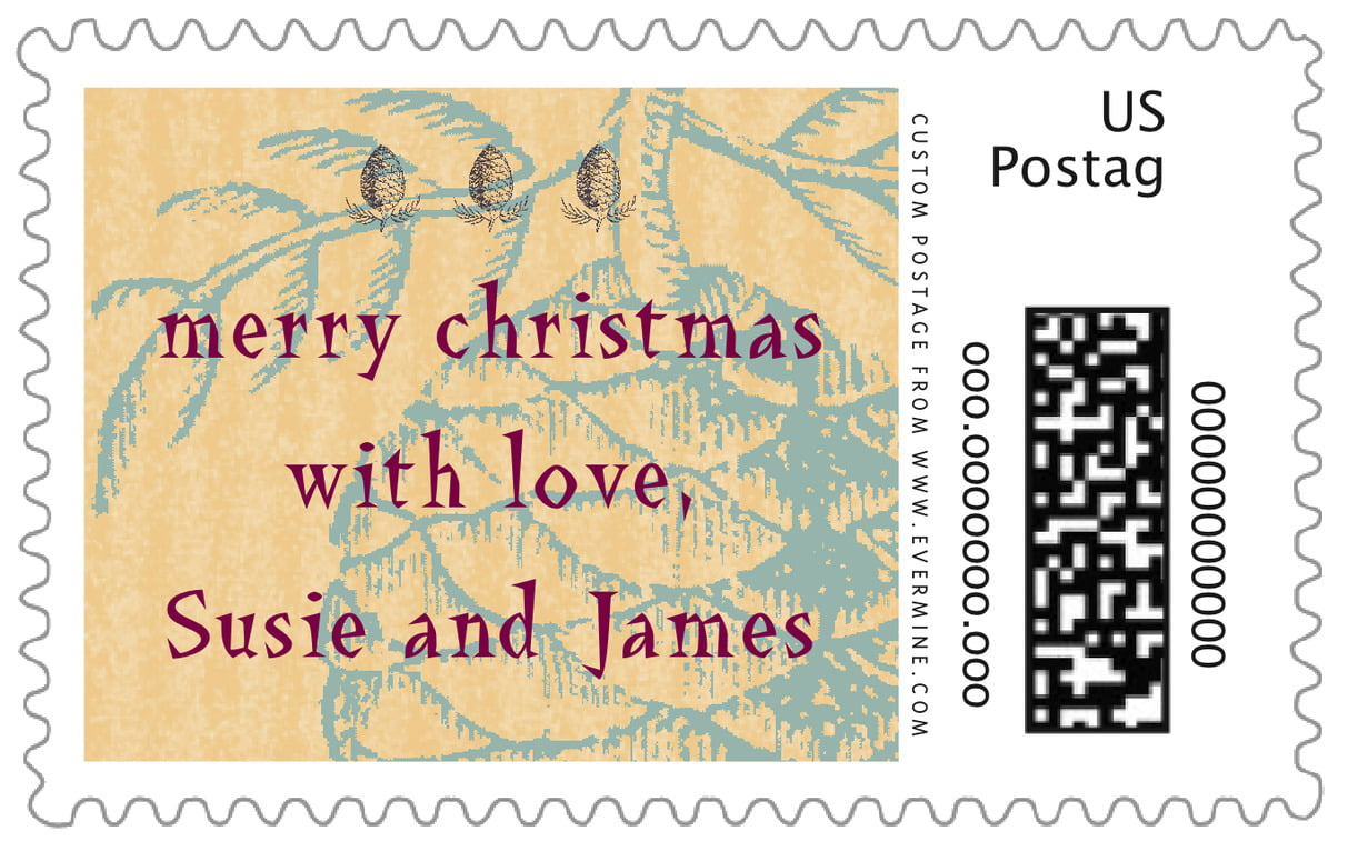 custom large postage stamps - ice blue - sugar pine (set of 20)